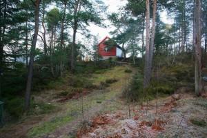 Tomt med riveklar hytte i Skeisstøa på Nore Neset